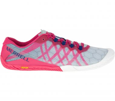 Merrell - Vapor Glove 3 women's trail running shoes (pink/white)