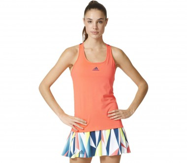 Adidas - Pro women's tennis tank top (red/dark blue)