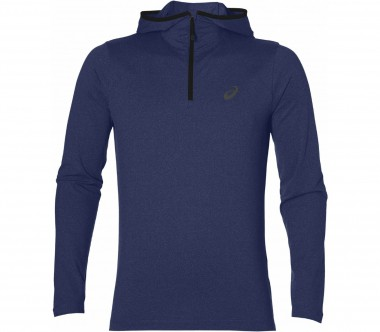 Asics - long-sleeved men's running hoodie (dark blue/grey)