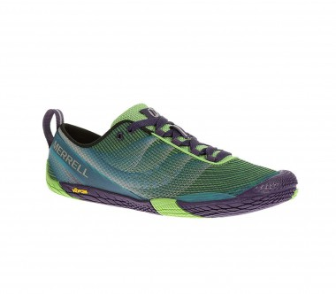 Merrell - Vapor Glove 2 women's trail running shoes (dark green/violet)