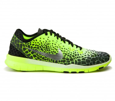 Nike - Free 5.0 TR Fit 5 Print women's training shoes (black/white/green)