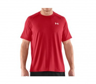 Under Armour - Tech Shortsleeve men's training top (red)