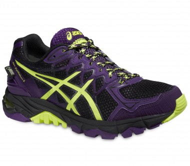 Asics - Gel FujiTrabuco 4 GTX women's running shoes (black/dunkelviolett)