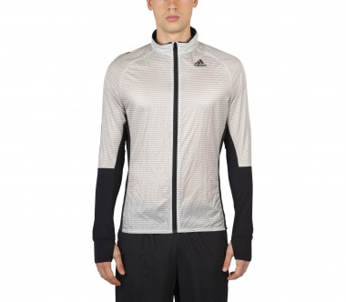 Adidas - Adizero Track men's running jacket (white/black)