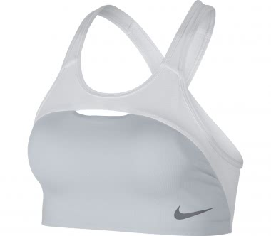 Nike - Pro Classic Swoosh Modern women's training bra (grey/white)