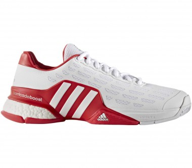 Adidas - Barricade 2016 Boost men's tennis shoes (white/red)