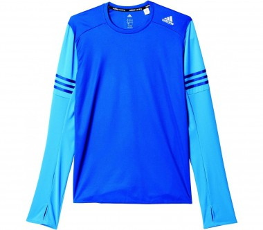 Adidas - Response long-sleeved men's running top (dark blue/light blue)