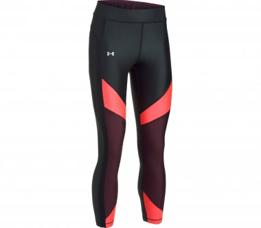 Under Armour - Heatgear Color Blocked Ankle Crop women's training pants (black/red)