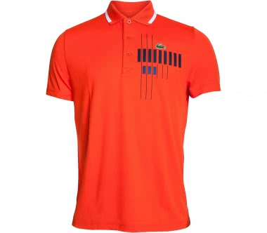 Lacoste - Novak Djokovic Ribbed Collar Shortsleeve men's tennis polo (orange)