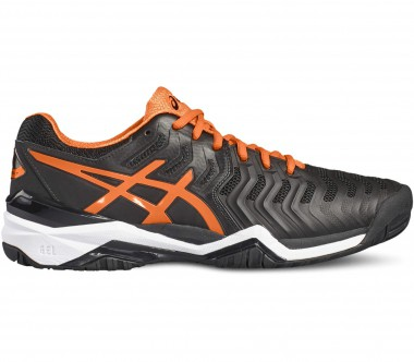 Asics - Gel-Resolution 7 men's tennis shoes (black/orange)