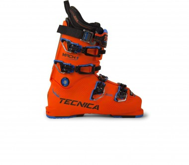 Tecnica - Mach 1 130 LV men's skis boots (orange/black)