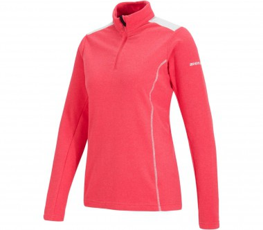 Ziener - Jovely long-sleeved Half-Zip women's fleece top (pink/white)