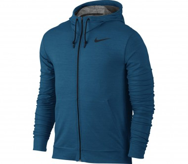Nike - Dri-Fit fleece Full-Zip men's training hoodie (blue)