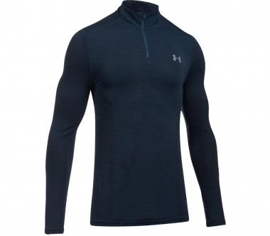 Under Armour - Threadborne Seamless 1/4 Zip men's training top (blue/black)