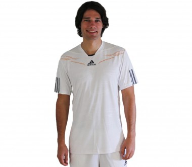 Adidas - Men´s Barricade Crew T-Shirt white - HW12 - Tennis - Tennis Cloth - Men