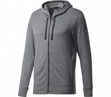 Adidas - Workout Full Zip Light men's training hoodie (dark grey)