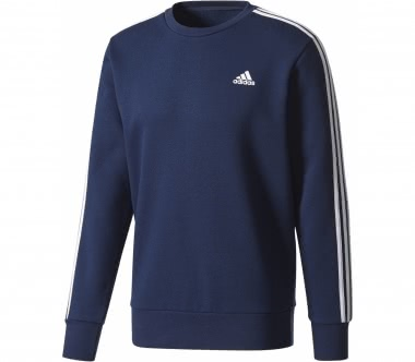 Adidas - Essential 3 Stripes Crew men's training hoodie (dark blue/white)