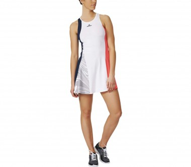 Adidas - Stella McCartney Barricade women's tennis dress (white/red)
