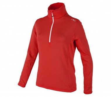 CMP - Jacquard women's fleece pullover (red)