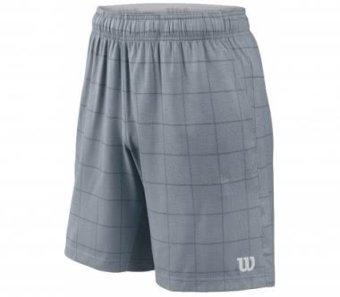 Wilson - Star Plaid Woven 9 men's tennis shorts (grey)
