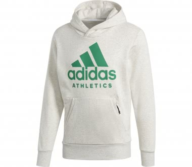 Adidas - SID Branded P/O men's training hoodie (white/green)
