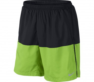 Nike - Distance 7 Inch men's running shorts (black/light yellow)