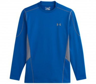 Under Armour - Evo Coldgear Fitted Hybrid Mock men's training top (blue)