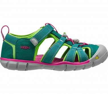Keen - Seacamp II CNX Children outdoor sandals (dark green/pink)
