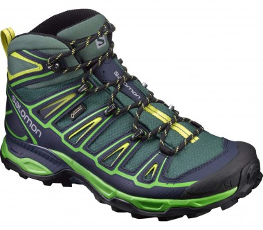Salomon - X Ultra Mid 2 GTX® men's hiking shoes (dark green/light yellow)