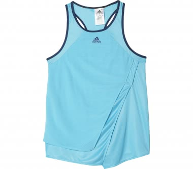 Adidas - Melbourne Line girl's tennis t-shirt (blue/orange)