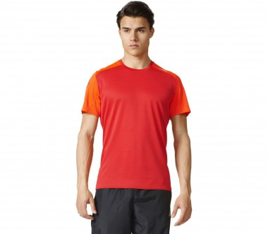 Adidas - Response shorts sleeve men's running top (red/orange)