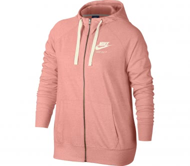 Nike - Sportswear Gym Vintage women's hooded fleece jacket (light red)