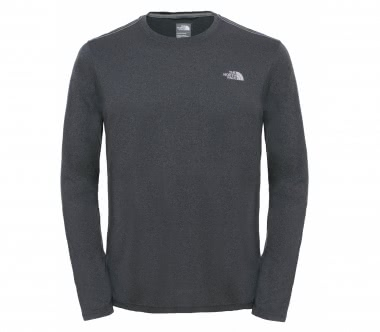 The North Face - Reaxion Amp long-sleeved Crew men's training top (grey)