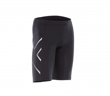 2XU - TR2 Compression men's running shorts (black/silver)