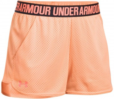 Under Armour - Mesh Play Up women's training shorts (orange)