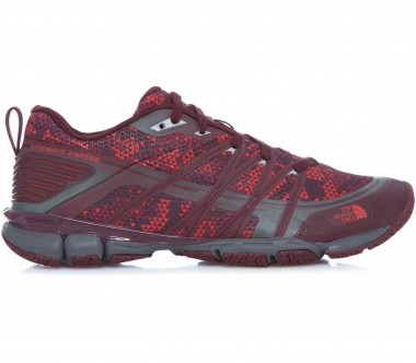 The North Face - Litewave Ampere women's trail running shoes (black/red)