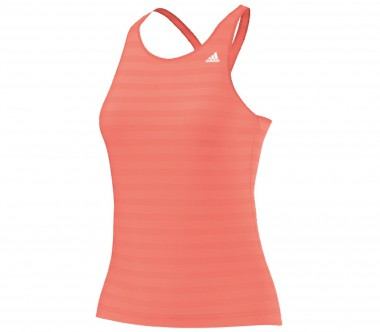 Adidas - Striped tank top women's training top (pink)