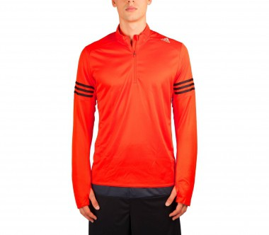 Adidas - Response 1/2 Zip men's running top (orange/black)