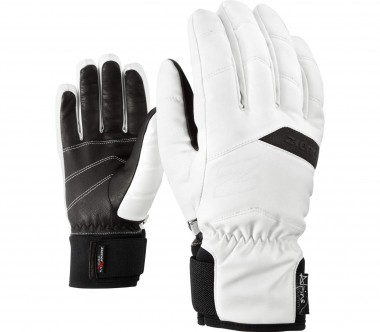 Ziener - Komi AS® AW women's ski gloves (white/black)