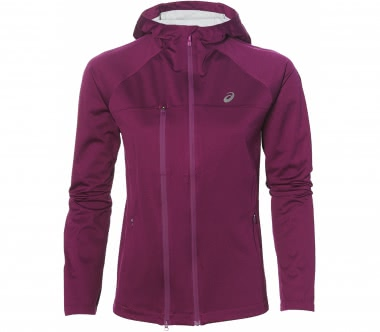 Asics - Accelerate women's running jacket (dark red)