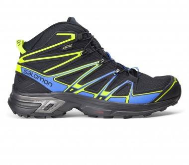 Salomon - X-Chase Mid GTX men's hiking shoes (black/blue) - -
