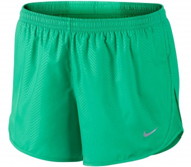 Nike - Modern Embossed Tempo women's running shorts (green/silver)