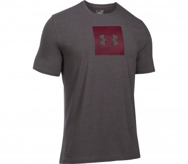 Under Armour - Camo Boxed Logo men's training top (grey/dark red)