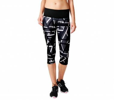 Adidas - Workout High Rise 3/4 Tight Print women's training pants (black/white)