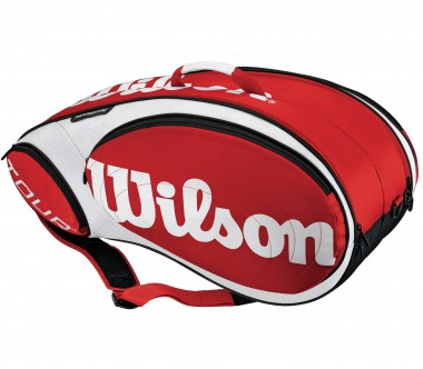 Wilson - Tour 9 Racket Bag red/white - Tennis - Tennis Bags