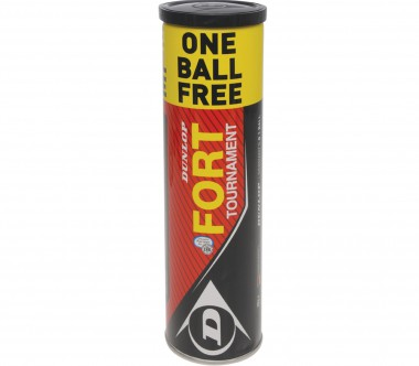 Dunlop - Fort Tournament - 4 Bälle  (3   1 Ball Gratis)