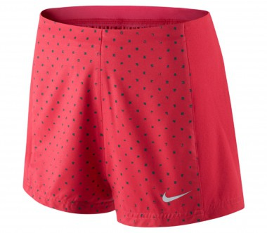 Nike - Printed Woven women's tennis shorts (red)