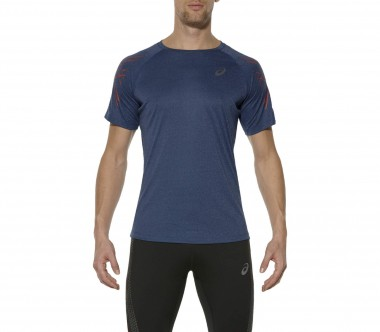 Asics - Shortsleeve Stripe men's running top (dark blue)