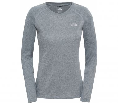 The North Face - Reaxion Amp long-sleeved Crew women's training top (grey)