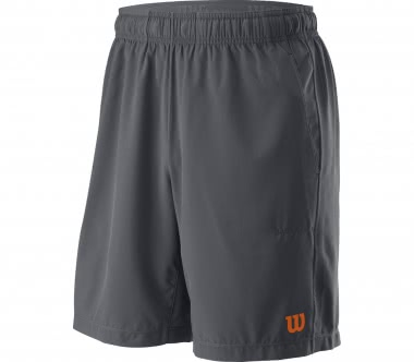 Wilson - UWII Woven 8'' Burn men's tennis shorts (grey/orange)